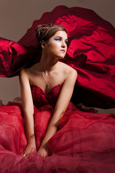 Hair & Make Up: Bojana Zjacic, Mandy H eng Red Dress for Fashion