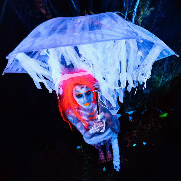 UV Ultraviolet Fluoro Shoot with Sarah Vella . Bodypainting & Photography by Chris David @chrisdavidphoto. 365nm LED Lighting